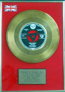 "Elvis Presley  7"" 24 Carat Gold Disc  - King Creole"
